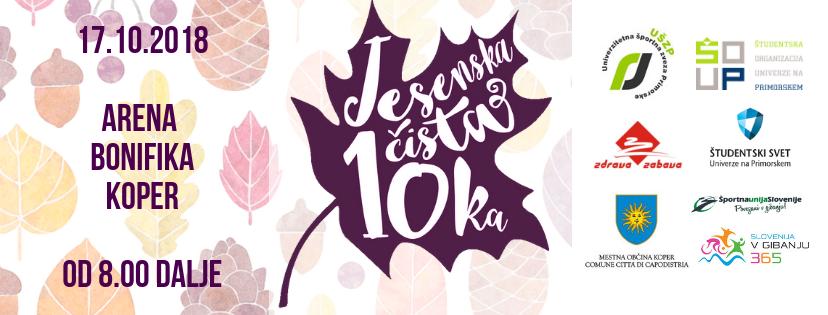 """Jesenska """"Čista desetka"""", 17. 10. 2018, Arena Bonifika Koper"""
