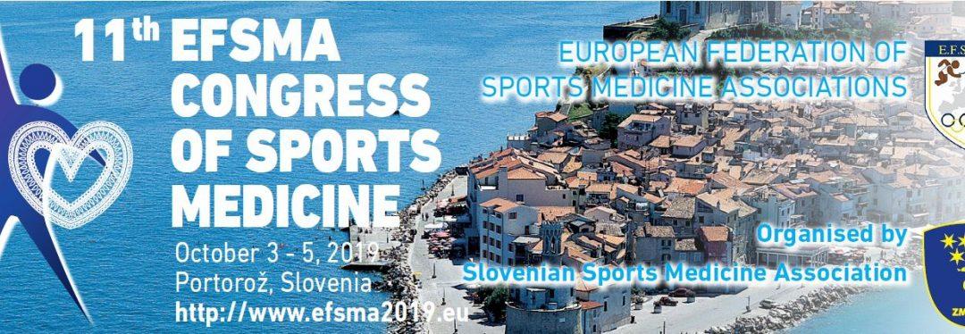 11. Evropski kongres medicine športa (EFSMA), 3.-5. 10. 2019