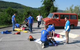 Tekmovanje študentov v intervencijah prve pomoči