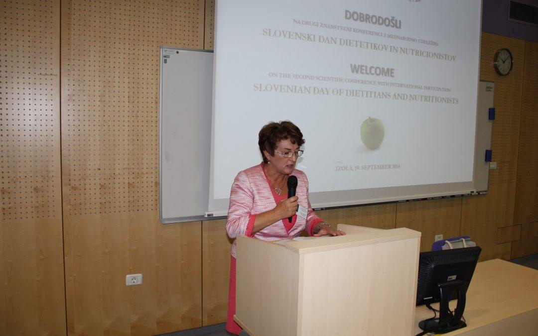 Slovenski dan dietetikov in nutricionistov, 19. 9. 2014