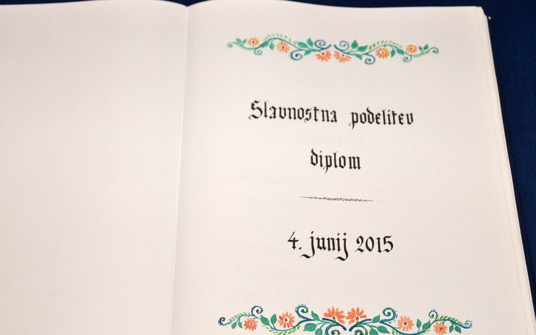 Podelitev diplom UP FVZ, 4. 6. 2015